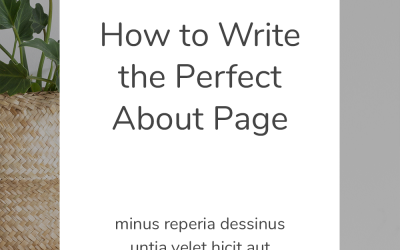How to Write the Perfect About Page